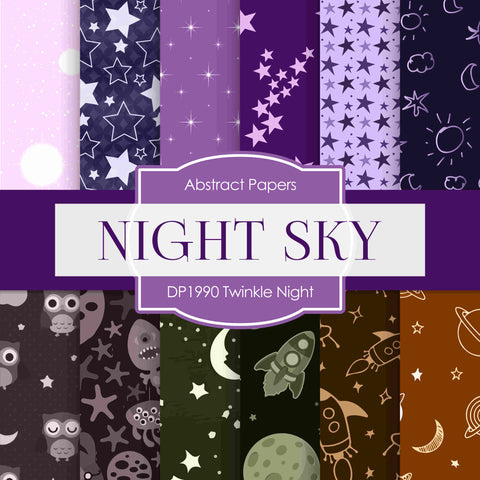 Twinkle Night Digital Paper DP1990 - Digital Paper Shop - 1