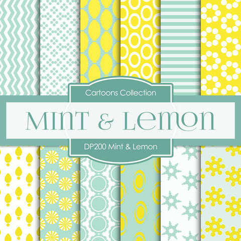 Mint Lemon Digital Paper DP200 - Digital Paper Shop - 1