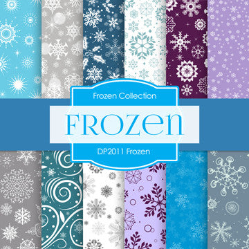 Frozen Digital Paper DP2011 - Digital Paper Shop - 1