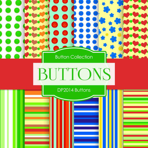 Buttons Digital Paper DP2014 - Digital Paper Shop - 1