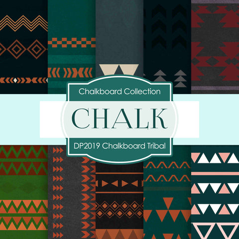 Chalkboard Tribal Digital Paper DP2019 - Digital Paper Shop - 1