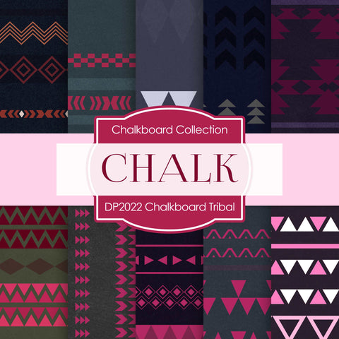 Chalkboard Tribal Digital Paper DP2022 - Digital Paper Shop - 1