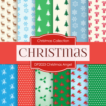 Christmas Angels Digital Paper DP2023 - Digital Paper Shop - 1