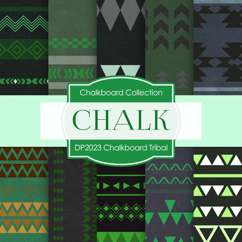 Chalkboard Tribal Digital Paper DP2023A - Digital Paper Shop - 1