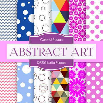 Abstract Art Digital Paper DP203 - Digital Paper Shop - 1