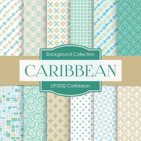 Caribbean Digital Paper DP2032 - Digital Paper Shop - 1