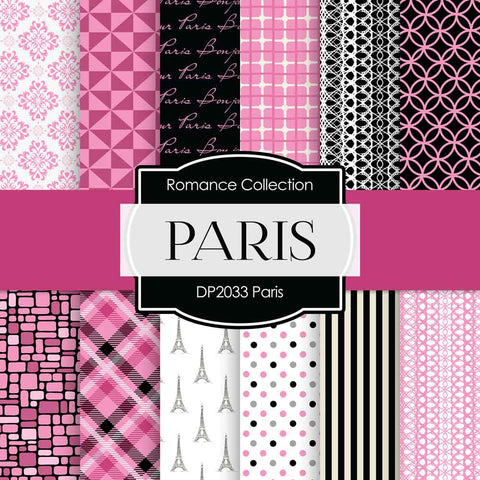 Paris Digital Paper DP2033 - Digital Paper Shop - 1