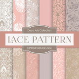 Natural Lace Digital Paper DP2034 - Digital Paper Shop - 1