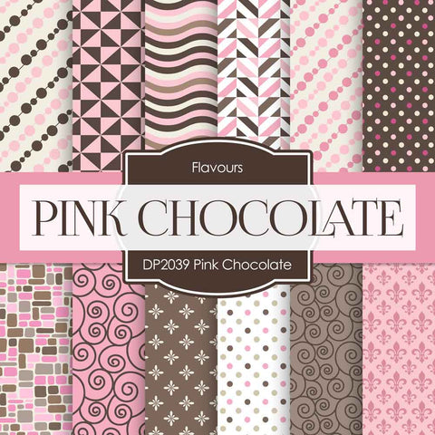 Pink Chocolate Digital Paper DP2039 - Digital Paper Shop - 1