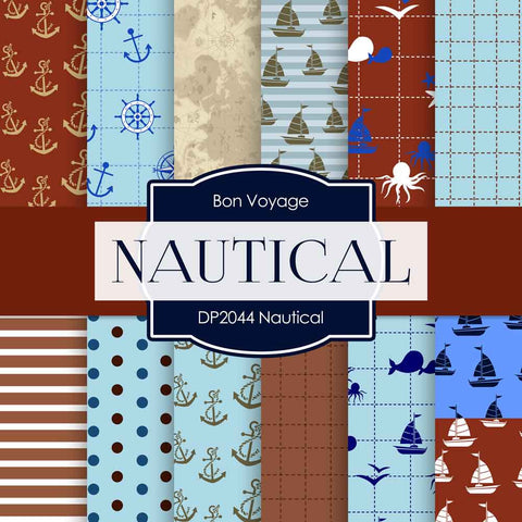 Nautical Digital Paper DP2044 - Digital Paper Shop