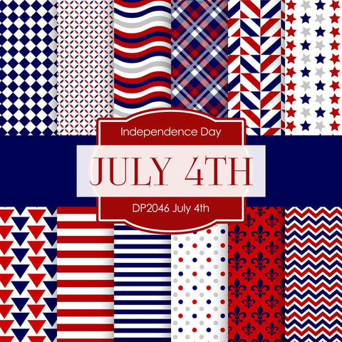 July 4th Digital Paper DP2046 - Digital Paper Shop - 1