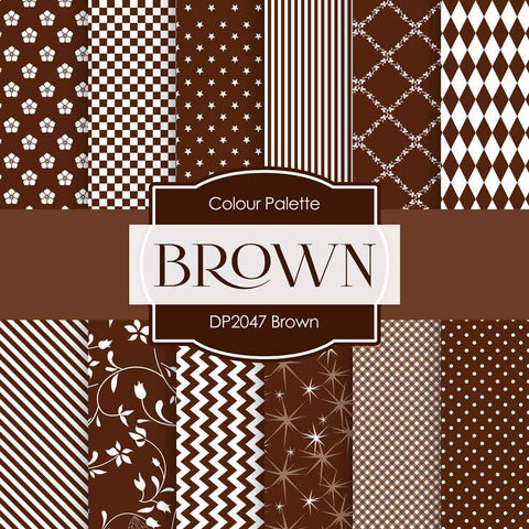 Brown Digital Paper DP2047 - Digital Paper Shop - 1