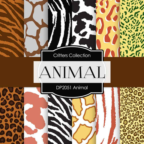 Animal Digital Paper DP2051 - Digital Paper Shop - 1