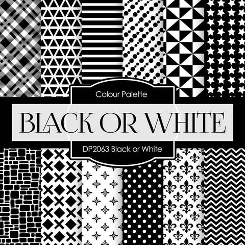 Black or White Digital Paper DP2063 - Digital Paper Shop - 1