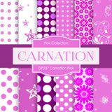 Carnation Pink Digital Paper DP207 - Digital Paper Shop - 1