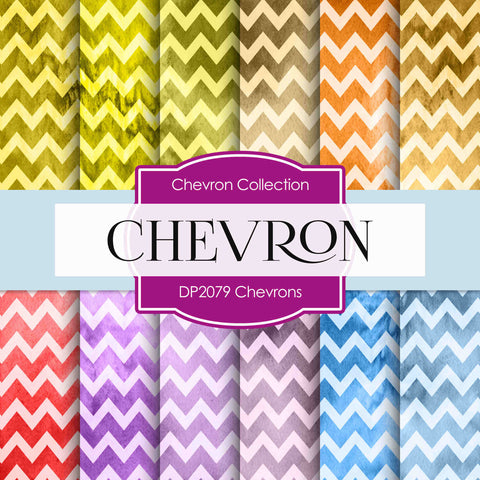 Chevrons Digital Paper DP2079 - Digital Paper Shop - 1