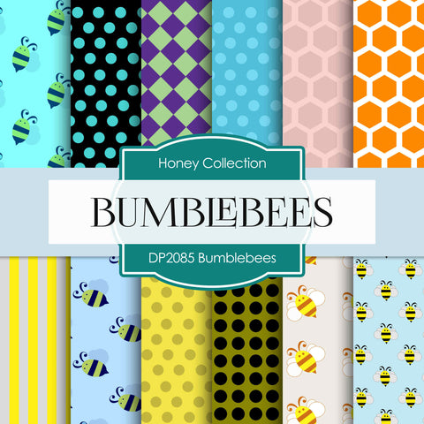 Bumblebees Digital Paper DP2085 - Digital Paper Shop - 1