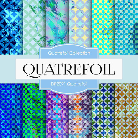 Quatrefoil Digital Paper DP2091 - Digital Paper Shop - 1
