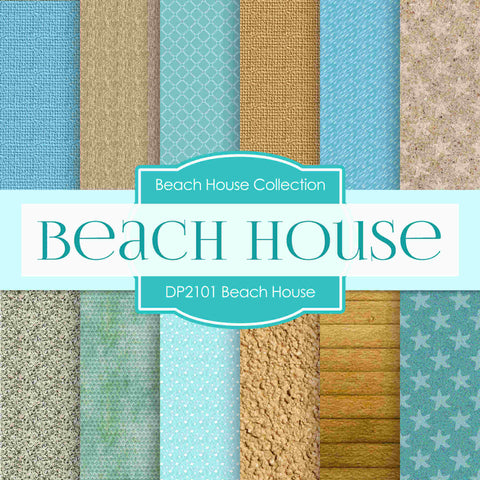 Beach House Digital Paper DP2101 - Digital Paper Shop - 1