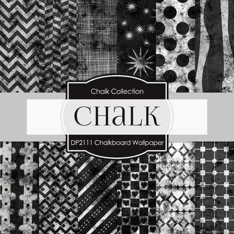 Chalkboard Wallpaper Digital Paper DP2111 - Digital Paper Shop - 1