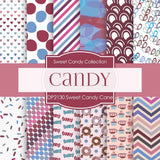 Sweet Candy Cane Digital Paper DP2130 - Digital Paper Shop - 1