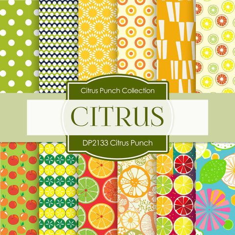 Citrus Punch Digital Paper DP2133 - Digital Paper Shop - 1