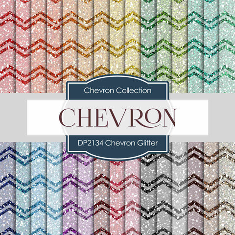 Chevron Glitter Digital Paper DP2134 - Digital Paper Shop - 1