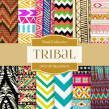 Tribal Prints Digital Paper DP2139 - Digital Paper Shop - 1