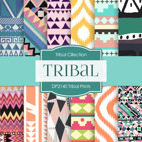 Tribal Prints Digital Paper DP2140 - Digital Paper Shop - 1