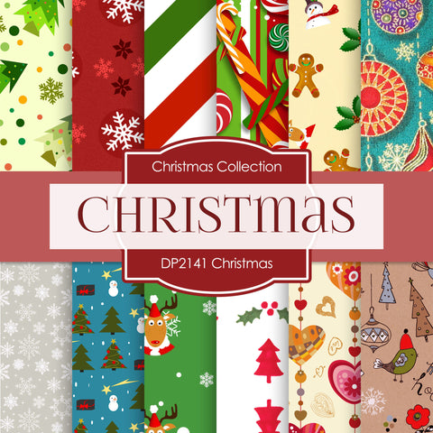 Christmas Digital Paper DP2141 - Digital Paper Shop - 1