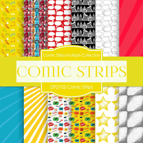 Comic Strips Digital Paper DP2152 - Digital Paper Shop - 1