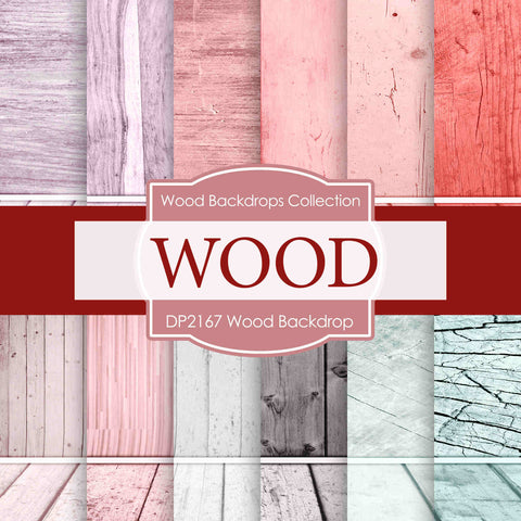 Wood Backdrop Digital Paper DP2167 - Digital Paper Shop - 1