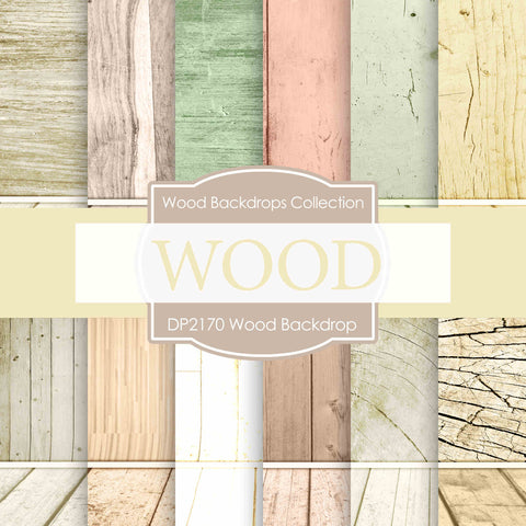 Wood Backdrop Digital Paper DP2170 - Digital Paper Shop - 1