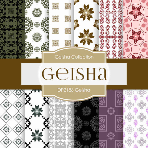 Geisha Digital Paper DP2186 - Digital Paper Shop - 1