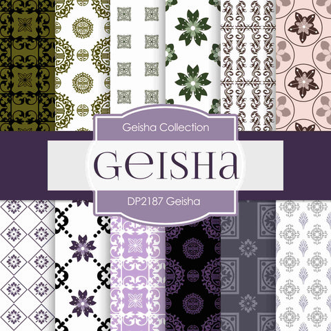 Geisha Digital Paper DP2187 - Digital Paper Shop - 1
