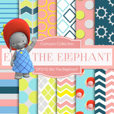 Ella The Elephant Digital Paper DP2192 - Digital Paper Shop - 1