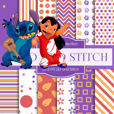 Lilo and Stitch Digital Paper DP2195 - Digital Paper Shop - 1