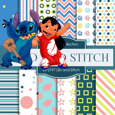 Lilo and Stitch Digital Paper DP2197 - Digital Paper Shop - 1
