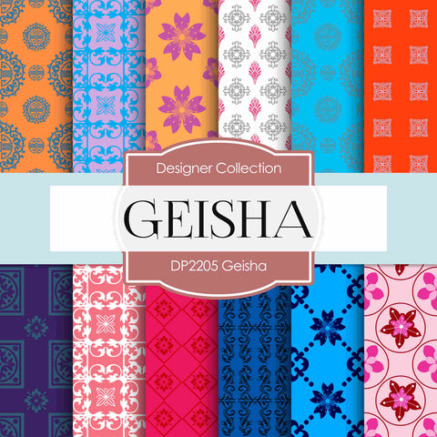 Geisha Digital Paper DP2205 - Digital Paper Shop - 1