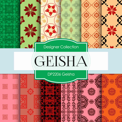 Geisha Digital Paper DP2206 - Digital Paper Shop - 1