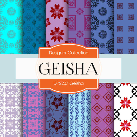 Geisha Digital Paper DP2207 - Digital Paper Shop - 1