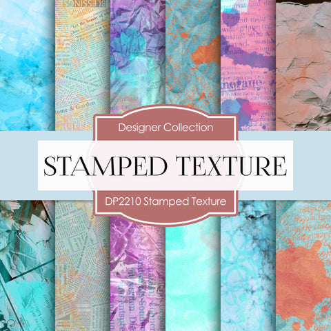Stamped Texture Digital Paper DP2210 - Digital Paper Shop - 1
