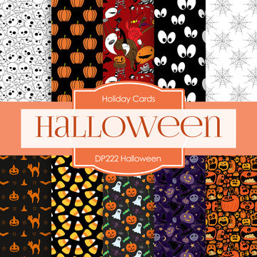 Halloween Digital Paper DP222 - Digital Paper Shop - 1