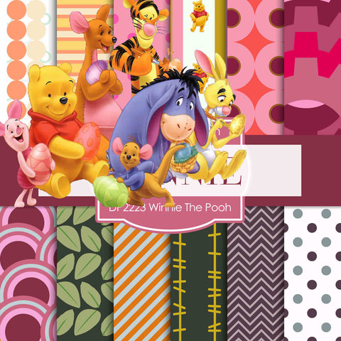 Winnie The Pooh Digital Paper DP2223 - Digital Paper Shop - 1