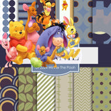 Winnie The Pooh Digital Paper DP2224 - Digital Paper Shop - 1