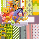 Winnie The Pooh Digital Paper DP2225 - Digital Paper Shop - 1