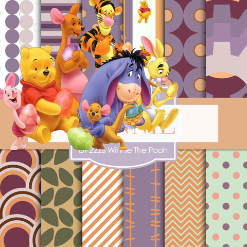 Winnie The Pooh Digital Paper DP2226 - Digital Paper Shop - 1