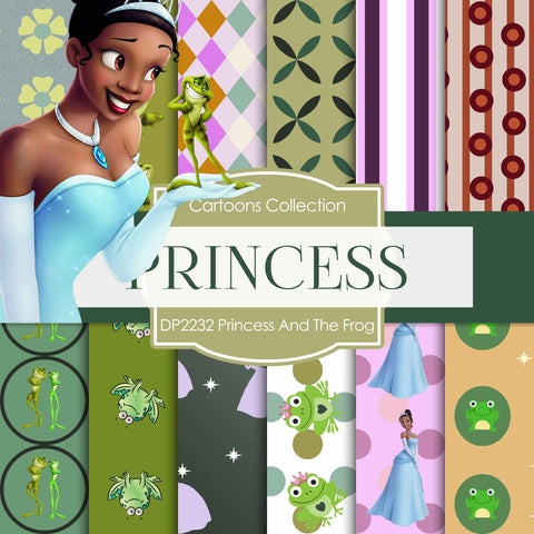 Princess And The Frog Digital Paper DP2232 - Digital Paper Shop - 1