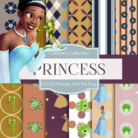 Princess And The Frog Digital Paper DP2233 - Digital Paper Shop - 1