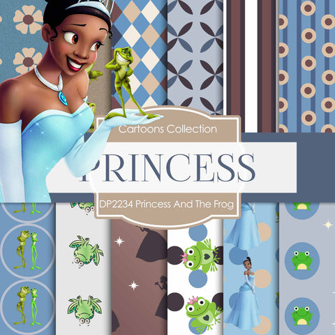 Princess And The Frog Digital Paper DP2234 - Digital Paper Shop - 1